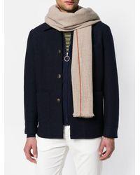 Eleventy Stripe hem scarf - Multicolore