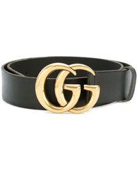 Gucci Double G Buckle Belt - Black
