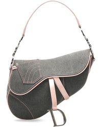Dior Джинсовая Сумка Saddle - Серый