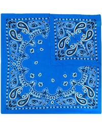 Destin Bandana con stampa paisley - Blu
