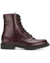 Valentino - Garavani Lace-up Boots - Lyst