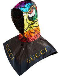 Gucci プリント フード - ブラック
