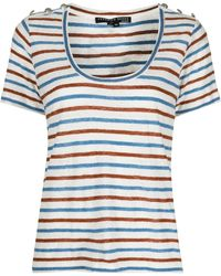 Veronica Beard Benji ストライプ リネンtシャツ - ホワイト