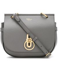 Mulberry Small Amberley Grained Satchel - Grey