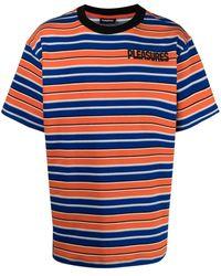 Pleasures - ストライプ ロゴ Tシャツ - Lyst