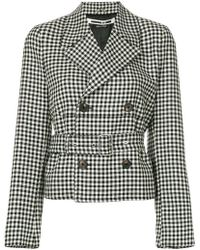 McQ - Belted Check Jacket - Lyst