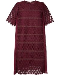 MUVEIL - Embroidered Star Shift Dress - Lyst