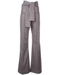 Silvia Tcherassi - Checked Flared Trousers - Lyst