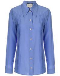 Gucci - Silk Point-collar Shirt - Lyst