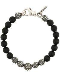 Emanuele Bicocchi - Round Shape Embellished Bracelet - Lyst