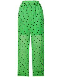 Ganni Polka Dot Pants - Green