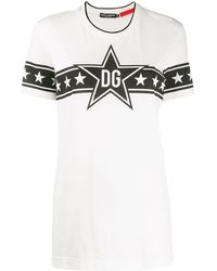 Dolce & Gabbana - Dg Star Tシャツ - Lyst