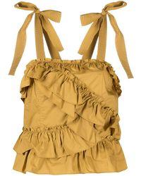 Ulla Johnson Cleo Ruffled Cotton Top - Yellow