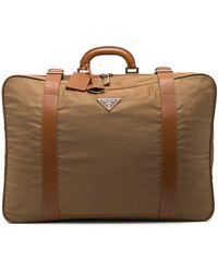 Prada Triangle-logo Suitcase - Brown