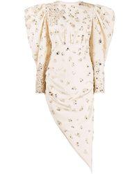 Loulou Crystal Embellished Dress - Natural