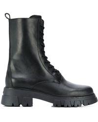 Ash Ботинки Liam В Стиле Милитари На Шнуровке - Черный