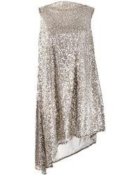 Halpern スパンコール ドレス - マルチカラー
