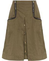 JW Anderson Zip-detail Twill Taffeta Skirt - Groen