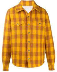 Sandro Chemise à carreaux - Jaune