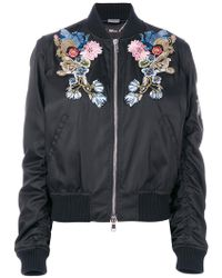 Alexander McQueen - Embroidered Bomber Jacket - Lyst