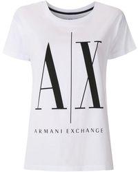 Armani Exchange ロゴ Tシャツ - ホワイト