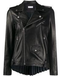 RED Valentino Куртка Со Складками - Черный