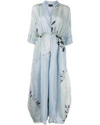 Giorgio Armani Mono oversize con estampado floral - Azul