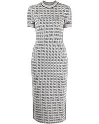 Fendi ショートスリーブ ドレス - ホワイト