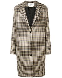 Closed - Checked Button Coat - Lyst