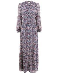 MICHAEL Michael Kors Floral-print Maxi Dress - Blue