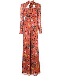 Alexis 'Imogene' Jumpsuit mit Blumen-Print - Rot