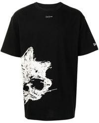 Yohji Yamamoto プリント Tシャツ - ブラック