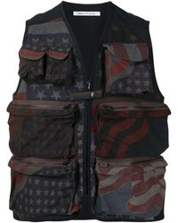 Children of the discordance Usa Flag-print Vest - Multicolour