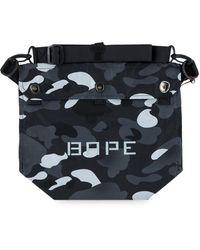 A Bathing Ape Gradation Camo Shoulder Bag - Black