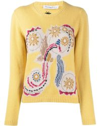 Dior Pre-owned Abstract Embroidery Sweater - Yellow