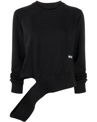 Rick Owens Cut-out Crew Neck Sweatshirt - Black
