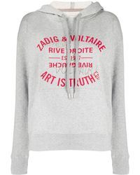 Zadig & Voltaire Art Is Truth パーカー - グレー