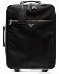 Prada Logo-plaque Suitcase - Black