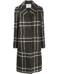 Mulberry Claire Large Tri-check Coat - Green