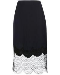 Kiki de Montparnasse Charmeuse シルクスカート - ブラック