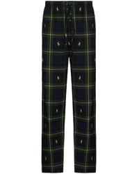 Polo Ralph Lauren Пижамные Брюки В Клетку - Зеленый