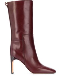 Jil Sander Leather Mid-calf Boots - Red
