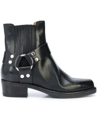 RE/DONE Short Cavalry Boots - Black