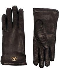 Gucci Leren Handschoenen - Zwart