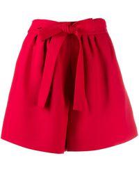 Valentino Shorts svasati con cintura - Rosso