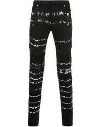 Balmain - Jean skinny à imprimé tie dye - Lyst