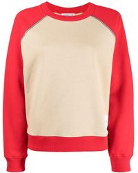 Victoria Beckham Sweat bicolore en coton - Marron