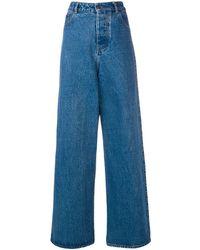 AMI ワイドジーンズ - ブルー