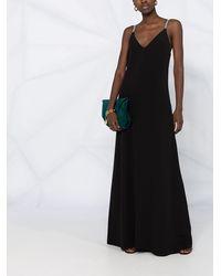 Brunello Cucinelli Платье Макси Monili С Цепочкой - Черный