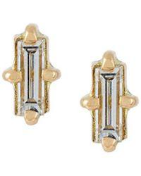 Wouters & Hendrix - 'baguette' Diamond Earrings - Lyst
